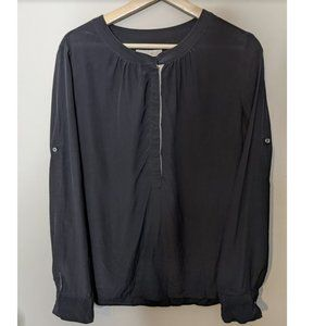 Banana Republic | Black Silk Blouse